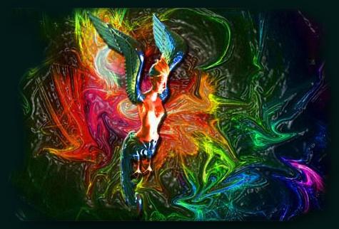 Phönixfigur-einzeln rahmen